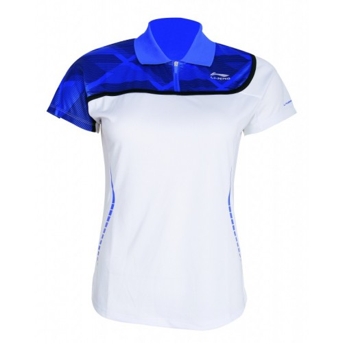 White and Blue Polo - Woman