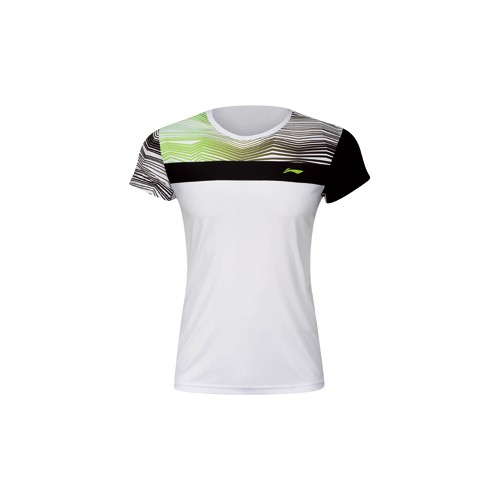 Badminton T-Shirt - ZigZag White K 056