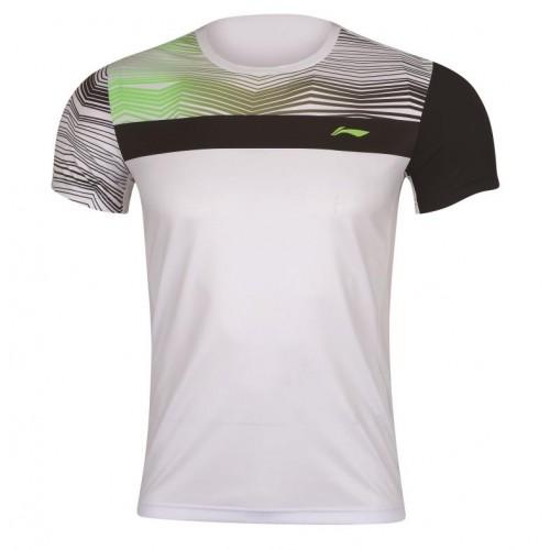Badminton T-Shirt - ZigZag White M 077